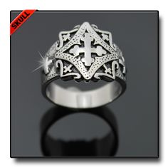 ELABORATE MULTI CROSS RING