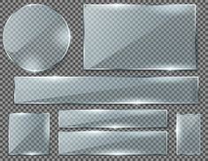 Realistic set of transparent glass plates, blank shining frames isolated on background. Poster Background Design, Geometric Background, Textured Background, Vector Background, Vintage Grunge, Glass Plaques, Photos Hd, Stock Photos, Frame Border Design