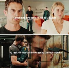 And then they fall apart again. Divergent Memes, Divergent Hunger Games, Divergent Fandom, Divergent Trilogy, Divergent Insurgent Allegiant, Insurgent Quotes, Tris And Tobias, Tris And Four, Book Memes