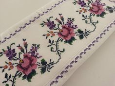 The Most Beautiful Cross Stitch Pattern Flower Embroidery Designs, Embroidery Stitches, Purple Spring Flowers, Cross Stitch Patterns, Crochet Patterns, Stitch Crochet, Cross Stitch Rose, Needlework, Diy And Crafts