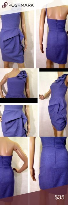 Lavender purple one shoulder dress Lavender purple one shoulder dress BCBGMaxAzria Dresses One Shoulder