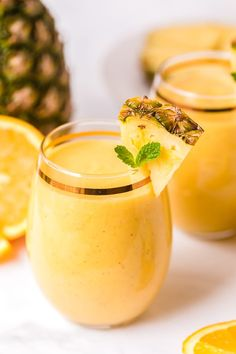 No need to travel for a taste of a tropical vacation! This Tropical Smoothie is packed with delicious flavor in a rich, creamy smoothie recipe. Easy to make for breakfast, a snack or turn into a cocktail! Tropical Smoothie Recipes, Yummy Smoothies, Hidden Vegetables, Different Fruits, Nutritious Snacks, Canned Coconut Milk, Smoothie Ingredients, Beverages, Drinks