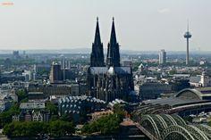 Ausblick auf Köln / Cologne von der Aussichtsplattform des KölnTRIANGLE