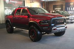FCA's Ram brand unveils Rebel TRX concept truck at State Fair of Texas and hints it may enter high performance, off-road pickup truck market. Lowered Trucks, Ram Trucks, Dodge Trucks, Diesel Trucks, Lifted Trucks, Cool Trucks, Pickup Trucks, Ram Rebel, Trx
