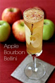 This apple bourbon bellini is a drink that everyone will love. The strong apple bourbon mixed with sweet prosecco is a perfect flavor combination!