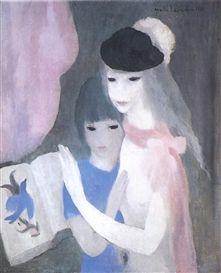 marie laurencin / two girls / 1923  http://www.artexperiencenyc.com/social_login