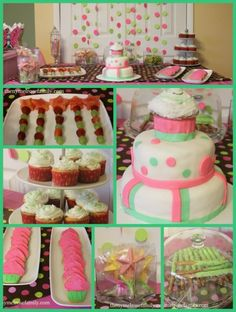 cupcake fairy dessert table collage