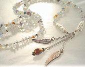 ANGEL DREAM MALA Inspired Necklace Swarovski Crystal Semi Precious Stones Feather Angel Wing Yoga Hippy Chakra Spirituality Meditation Magic https://www.etsy.com/listing/124159029/angel-dream-mala-inspired-necklace?ref=tre-2725210679-3