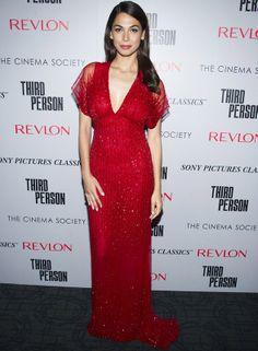 Moran Atias con un espectacular vestido rojo de paillettes de Naeem Khan.