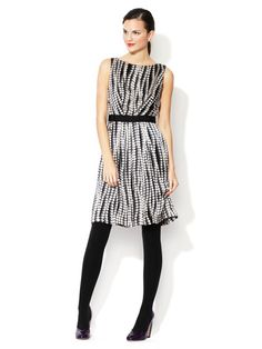 Guiliana Pleated Silk Dress by Milly on Gilt.com