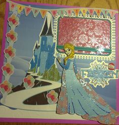 Frozen scrapbook layout