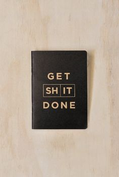 Mi Goals - Get Shit Done Notebook To-Do List - A6 (10x15cm)