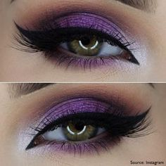 smokey eye purple and black - Google Search