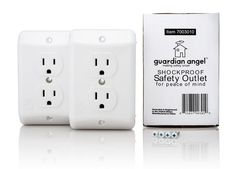 Guardian Angel Outlet: One of the best shockproof safety outlet for childproofing we've seen