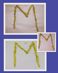 Letter recognition, letters and sensory presentation, M is for Macaroni