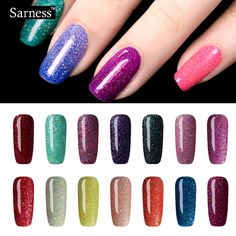 Sarness 8 ml Soak-off Gel de uñas Arte Pintura de Neón de Colores de Colores Del Polaco Del Gel UV/LED Bing barato Barniz de Laca Gel
