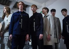 'Resistant' backstage at Matthew Miller AW15 LCM. See more here: http://www.dazeddigital.com/fashion/article/23146/1/matthew-miller-aw15