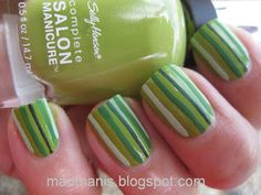 MaD Manis: Green stripes