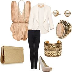 Light pink & gold. Night out!