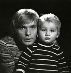 Олег Видов с сыном Алёшей