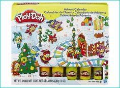 Play Doh Advent Calendar Suitable for ages 3 and up, this advent calendar comes with pots of Play-Doh and moulds behind each of the doors. For anyone who has already got Play-Doh toys, the kids will love it. Parents will also like to play too! Toy Advent Calendar, Advent Calendars For Kids, Advent Calenders, Countdown Calendar, Kids Calendar, Play Doh Knete, Hasbro Play Doh, Christmas Planning, Christmas Fun