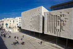 Malta Parliament Building Renzo Piano's Parliament Building in Valletta Malta.