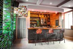 Irish Whiskey Academy Home for Irish Distillers, Pernod Ricard: Ground floor letterpress bar