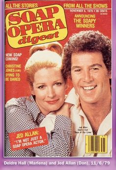 From a Soap Digest special issue #stream Marlena Evans (Deidre Hall) & Don Craig (Jed Allen)