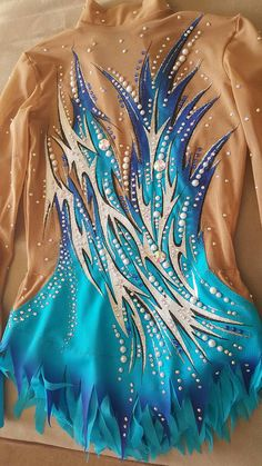 Competition Rhythmic Gymnastics Leotard by TaniaRGLeotards on Etsy