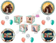 THE SECRET LIFE OF PETS Cubez Birthday Party Balloons Decoration Supplies Movie #Anagram #1STbIRTHDAY