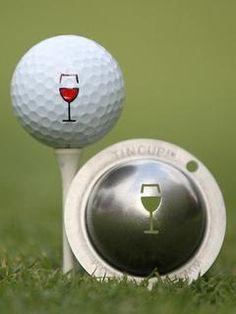 "Tin Cup ""Napa Valley"" Wine Golf Ball Stencil - Mrs Golf - Ladies Golf Apparel, Shoes, Accessories - #mrsgolf"