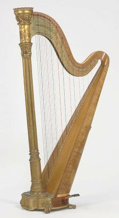 LYON AND HEALY   A FORTY-FIVE STRING, DOUBLE ACTION HARP, STYLE 21, CHICAGO, 1912