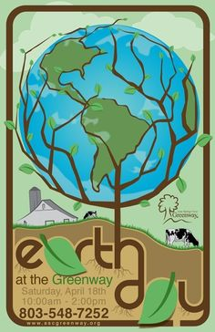 Earth Day Event Poster by Kyle Bebeau