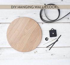 DIY hanging wall clock
