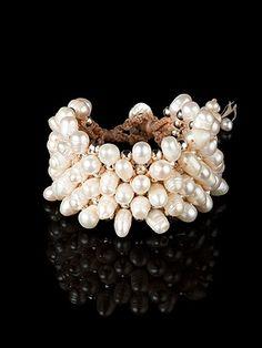 Wide Pearl Bridal Bracelet  #bridesmaid #jewelry #gift