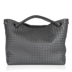 d8b955ed2f08b Bottega Veneta Borsa Intrecciato Nappa Light Grey in grau