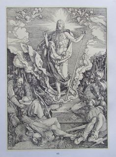 Albrecht Dürer DIE AUFERSTEHUNG und DER ZEICHNER DER LAUTE 2 Reproduktionen Kunstdrucke Art Prints