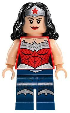 ItemName: Lego Wonder Woman - Dark Blue Legs, ItemType: Minifig, ItemNo: Buy and sell LEGO parts, Minifigs and sets, both new or used from the world's largest online LEGO marketplace. Lego Dc Comics, Dc Comics Superheroes, Batman Lego, Lego Marvel, Batman Party, Wonder Woman, Lego Sets, Lego Minifigs, Lego Worlds