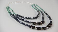 #DIY: Beaded Statement Necklace! Video: http://youtu.be/DYqzCIodXgM Blog: http://jamiepetitto.tumblr.com/post/103505245953/diy-statement-necklace