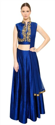 DEEPER THAN INDIGO - Wow, we can't take our eyes off this skirt and crop top for wedding season! #bride #Lehenga #IndianWedding #IndianFashion #OnlineShopping #sale #monotone #partywear