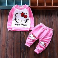 2016 New Autumn Baby 2pc Suit Hello Kitty Baby Girls Clothing Sets Velvet Sport Suits Hoodie Jackets +pants Bebe Kids Clothes-in Clothing Sets from Mother & Kids on Aliexpress.com   Alibaba Group