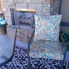 Your place to buy and sell all things handmade Back Pillow, Pillow Set, Red Blue Green, Patio Dining, Foam Cushions, Wingback Chair, Paisley, Accent Chairs, Community
