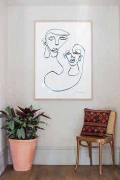 Inside Sydney's newly renovated Paddington Inn: Another workby Dutch artist, Christiane Spangsberg.
