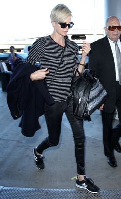 Charlize Theron at LAX 11/8/15