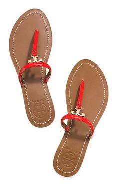 Tory Burch T Logo Flat Thong Sandal