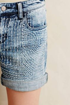 Pilcro Embroidered Denim Roll-Ups #anthroregistry