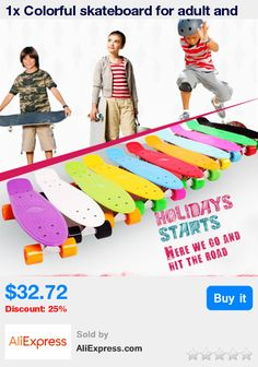 1x Colorful skateboard for adult and teenager Four wheel Surf Street Slide Fish Board 22inch 200 Kg Max Loading Free shipping * Pub Date: 19:41 Apr 14 2017