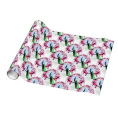 http://www.zazzle.com.au/peacock_cherry_blossoms_and_lattice-256571083896191811?rf=238523064604734277 Peacock Cherry Blossoms And Lattice - This wrapping paper features a peacock perching on a cherry blossom branch in front of a lattice wall.