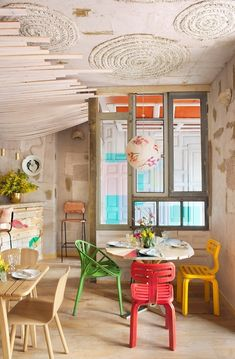 MamaCampo restaurant eclectic design with decors and pastel shades www.homeworlddesign. com (1) in Restaurant & Bar