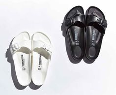 Minimal + Classic: Birkenstock madrids / all white all black